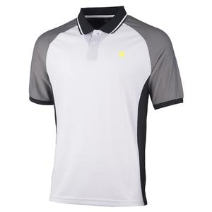 Men`s Hypercourt Express Tennis Polo White and Black