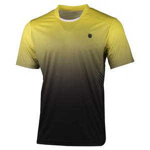 Men`s Hypercourt Express Tennis Crew Yellow and Black