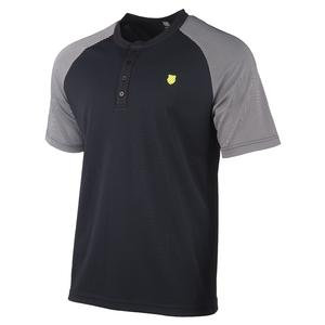 Men`s Hypercourt Henley Tennis Crew Black