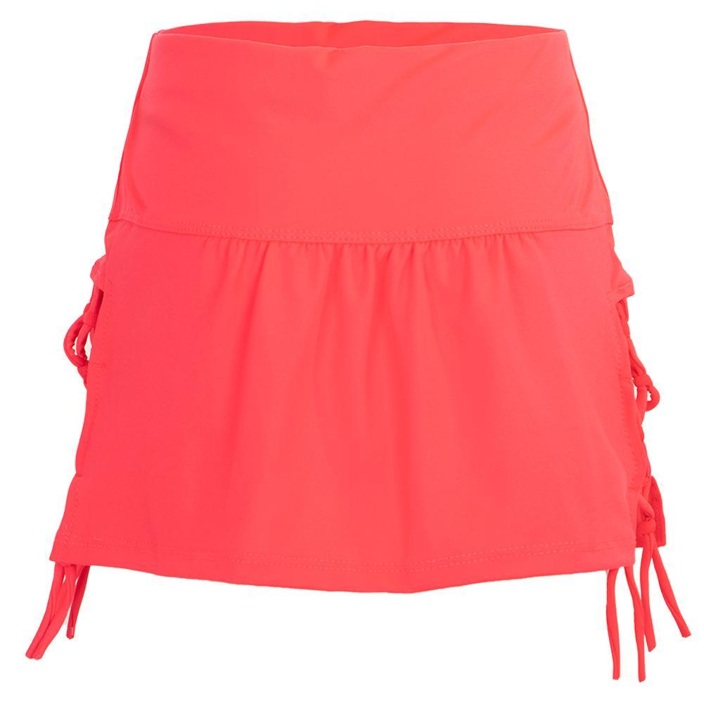 Girls ` Why Knot Tennis Skirt Coral Crush