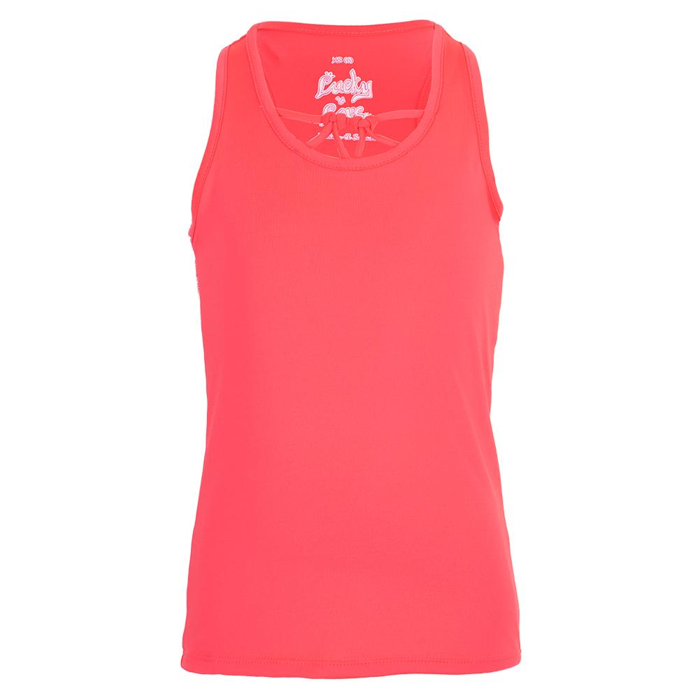Girls ` Why Knot Tennis Tank Coral Crush