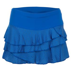 a0997534a9 NEW Women`s Shadow Stripe Rally Tennis Skirt Electric Blue Lucky In Love  Women s Shadow ...