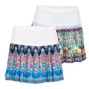 Women`s Long Pleated Tennis Skirt