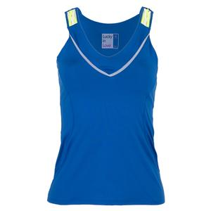 6ad082f897 NEW Women`s Entwine Racerback Tennis Tank with Bra Electric Blue Lucky In  Love Women s Entwine ...