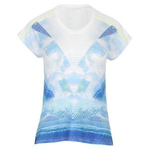 Women`s Dolman Short Sleeve Tennis Top Ethos Print