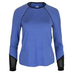 Women`s Sunny Back Long Sleeve Tennis Top Baja Blue