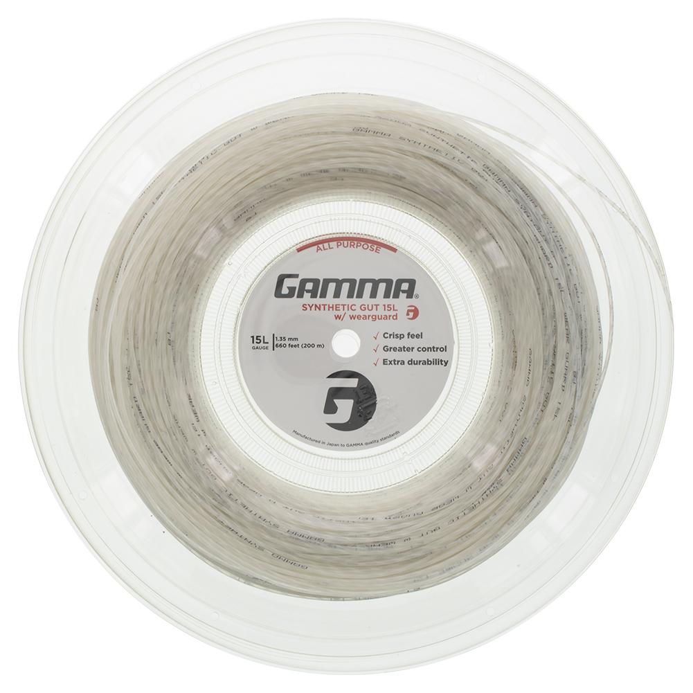 Synthetic Gut With Wearguard 15l Tennis String Reel White