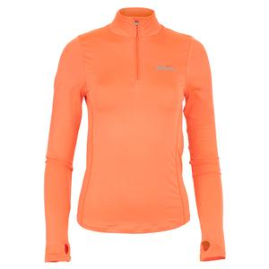 Women`s Namora 3/4 Zip Tennis Top Orange