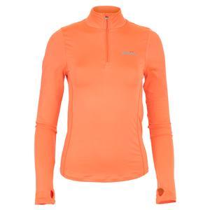 Women`s Namora 3/4 Zip Tennis Top Orange