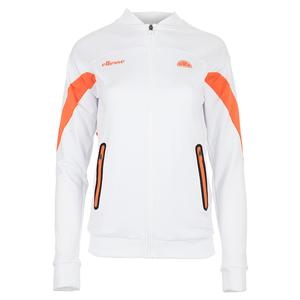 Women`s Oracle Tennis Jacket White and Orange