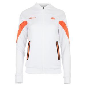 Women`s Oracle Tennis Jacket White and Orange