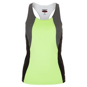 Women`s Velocity Racerback Tennis Tank Melon and Black