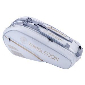 Racquet Holder X6 Wimbledon Tennis Bag White and Gold