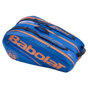 Racquet Holder X12 Roland-Garros Tennis Bag Dark Blue and Orange