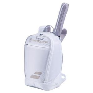 Wimbledon Club Tennis Backpack White and Gold
