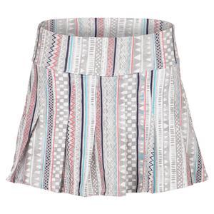 Women`s Flutter 13 Inch Tennis Skort Ikat Stripe Print