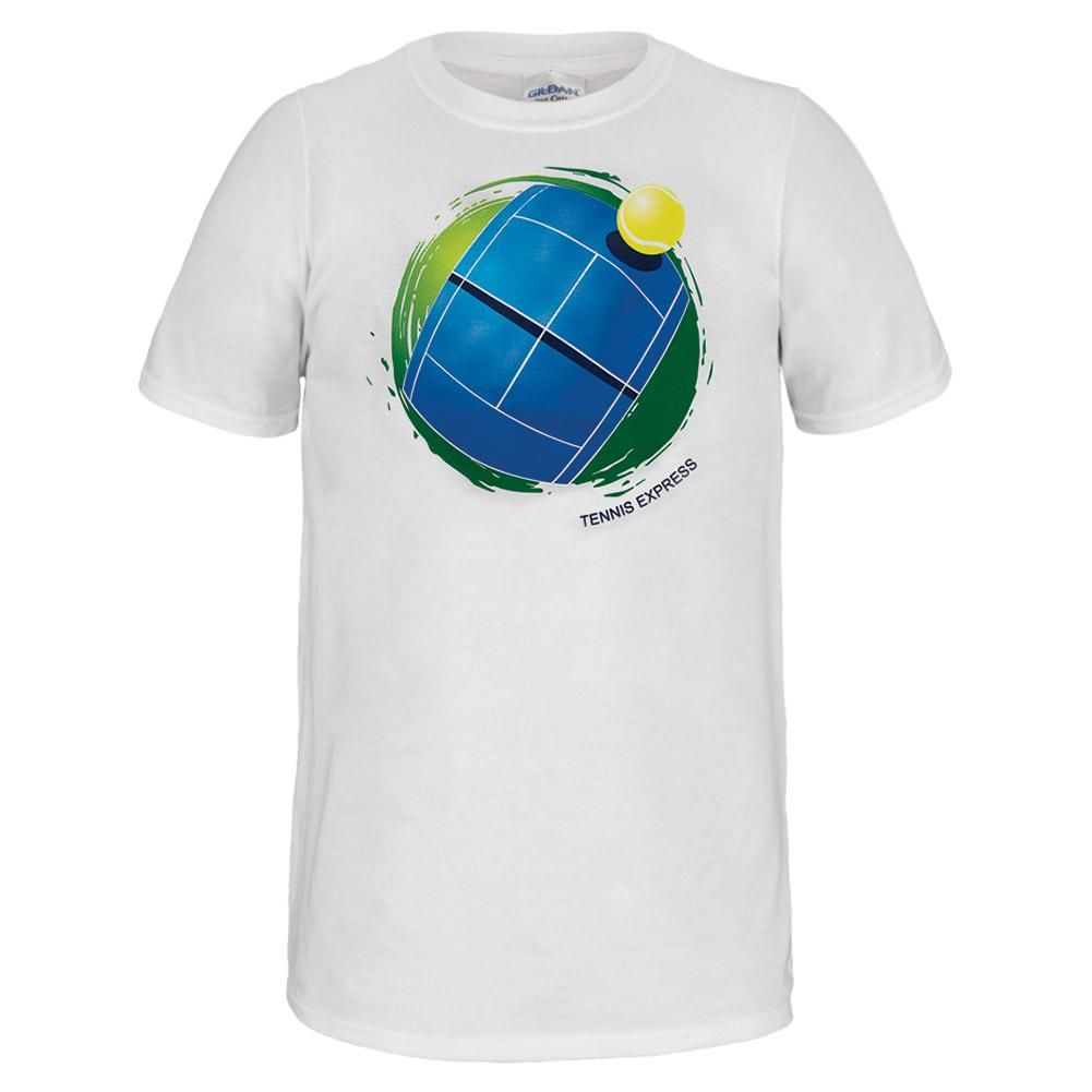 Unisex Globe Tennis Tee White