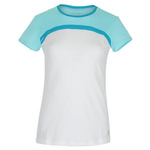 Women`s Link Short Sleeve Tennis Top White and Air