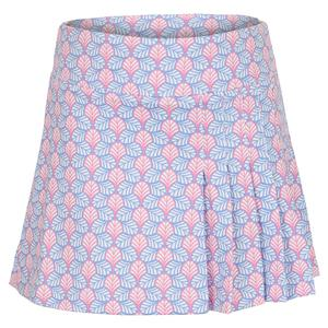 Girls` Yoke Waist Pleat Tennis Skort Print