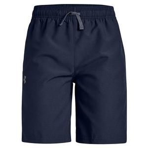 Boys` Woven Graphic 7 Inch Short Midnight Navy