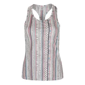 Women`s Race Day Tennis Tank Ikat Stripe Print