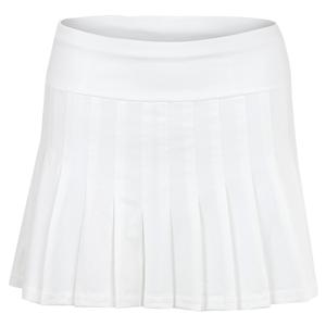 Women`s Jillian 13.5 Inch Tennis Skort White