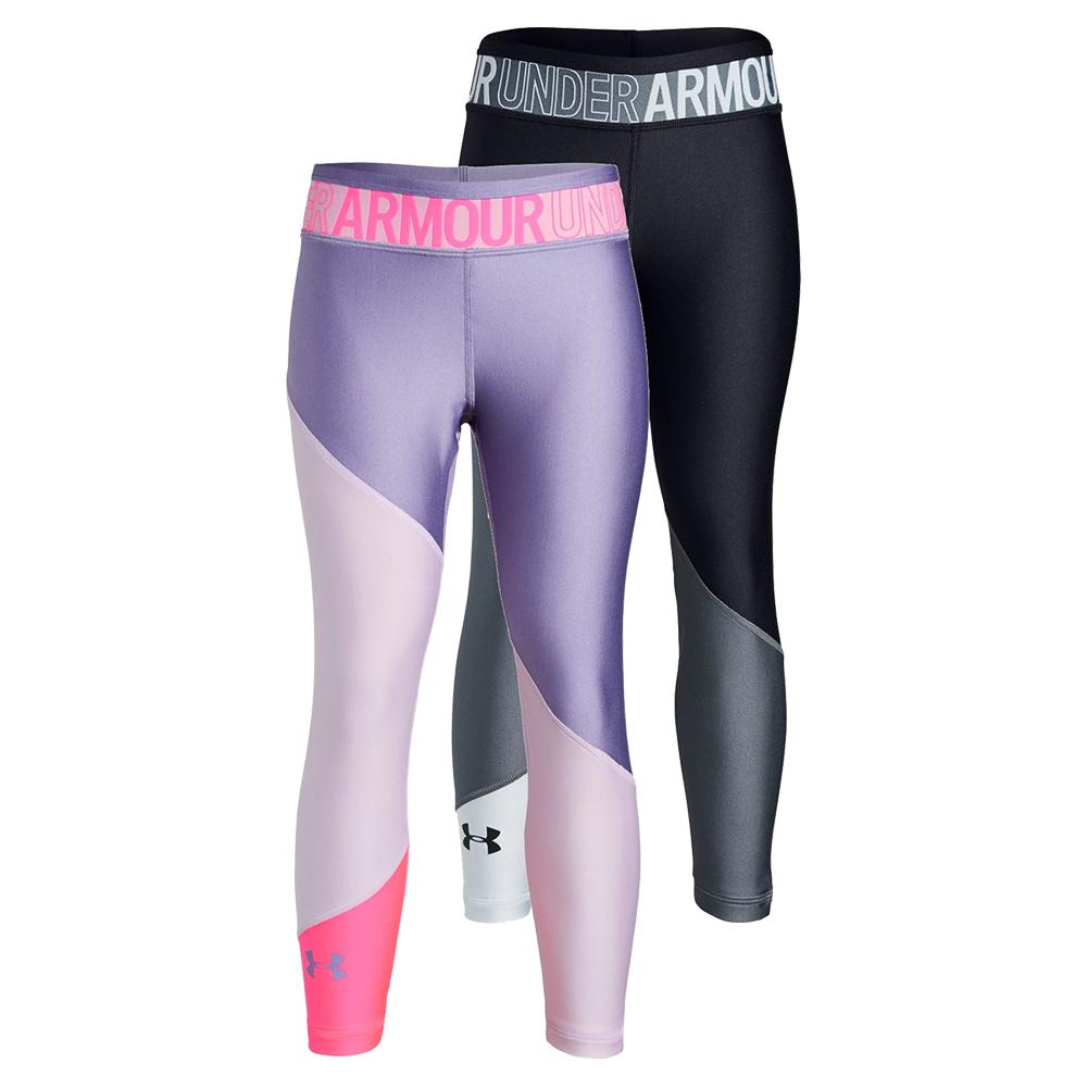 Girls ` Heatgear Armour Color Block Ankle Crop