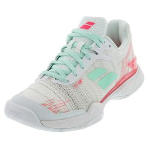 Women`s Jet Mach II All Court Tennis Shoes White and Pink