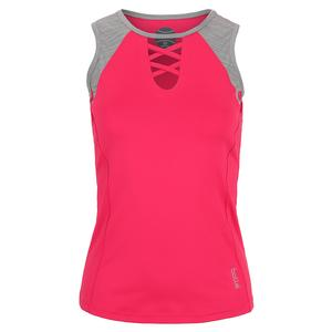 Women`s Viper Tennis Tank Tulip and Ash Heather