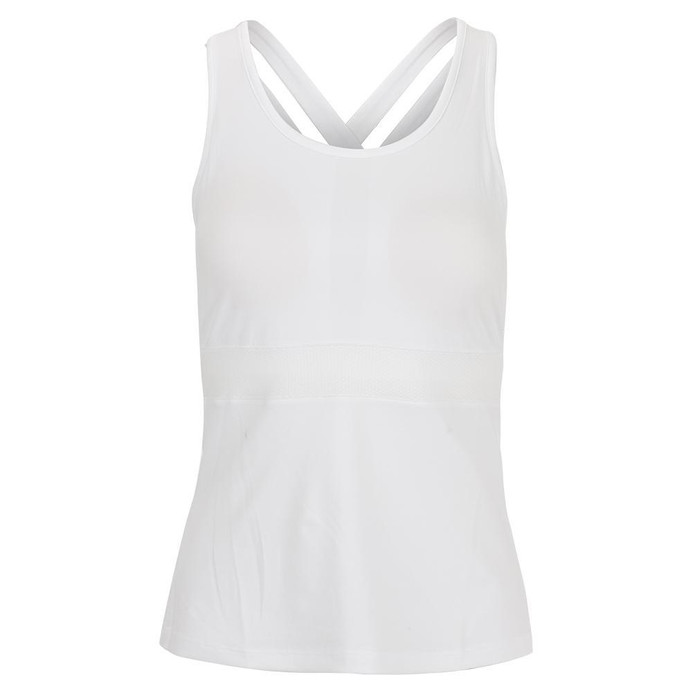 Women's Criss Cross Tennis Cami White