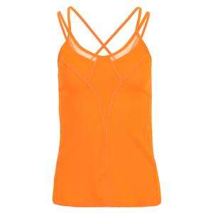 Women`s Strappy Tennis Tank Neon Orange