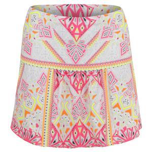 Women`s Pocket Tennis Skirt Good Vibes Print