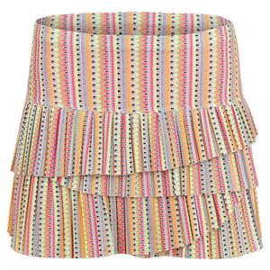 Women`s Pleated Scallop Tennis Skirt Lit Print