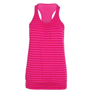 Women`s Starburst Tennis Tank Raspberry