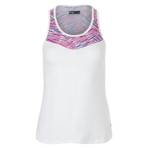 Women`s Force Tennis Tank White and Matchstick Print