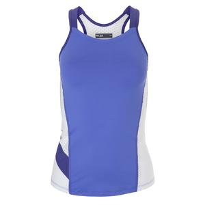 Women`s Soul Tennis Tank Baja Blue and White