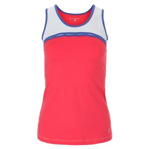 Women`s Chain Tennis Tank Coral and White