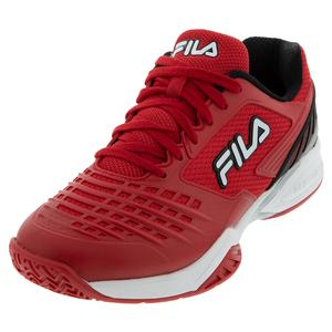 Men`s Axilus 2 Energized Tennis Shoes Fila Red and White