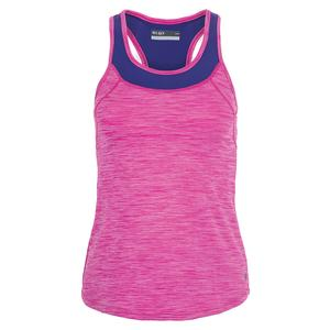 Women`s Pacesetter Tennis Tank Raspberry and Regal Blue