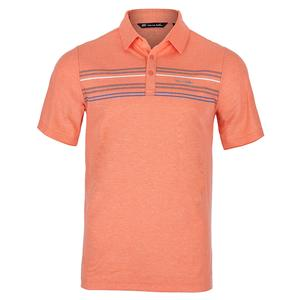Men`s DHM Tennis Polo Heather Persimmon