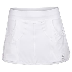 Women`s Race 12 Inch Tennis Skort White