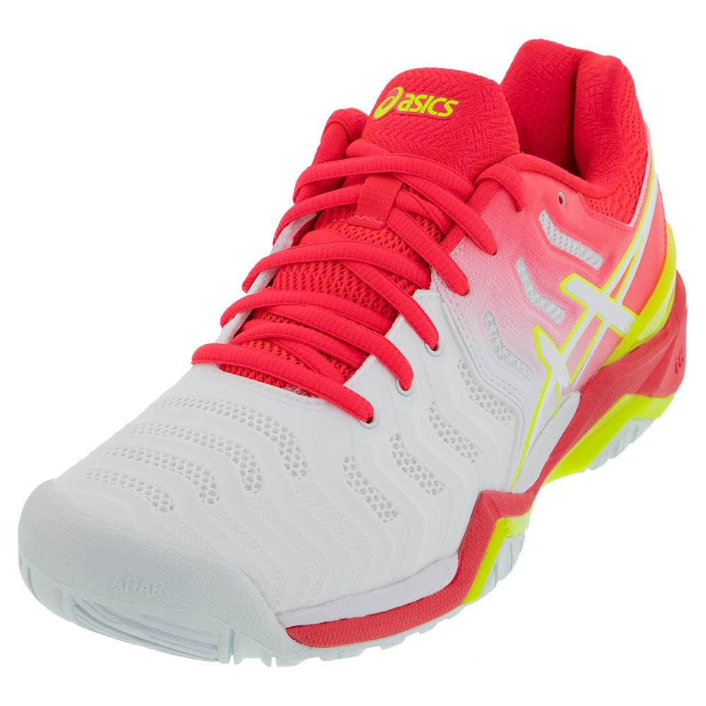 Women's Gel- Resolution 7 Tennis Shoes White And Laser Pink