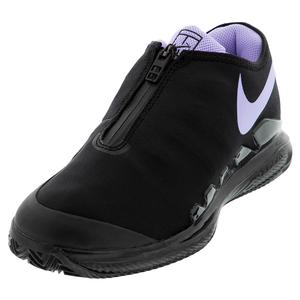 Women`s Air Zoom Vapor X Glove Tennis Shoes Black and Purple Agate