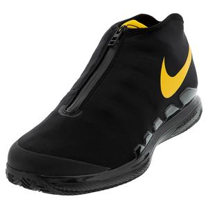 Men`s Air Zoom Vapor X Glove Tennis Shoes Black and University Gold