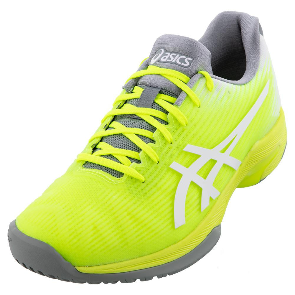 Women's Solution Speed Ff Tennis Shoes Safety Yellow And White