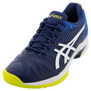 Men`s Solution Speed FF Tennis Shoes Blue Expanse and White