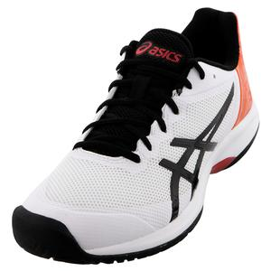 Men`s GEL-Court Speed Tennis Shoes White and Black