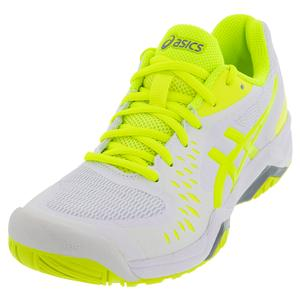 Women`s GEL-Challenger 12 Tennis Shoes White and Safety Yellow