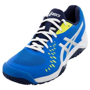 Men`s GEL-Challenger 12 Tennis Shoes Electric Blue and Silver
