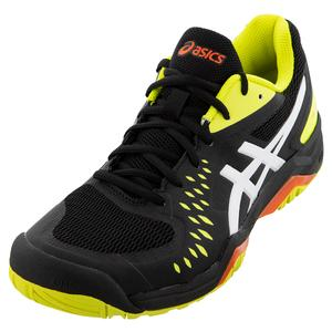 Men`s GEL-Challenger 12 Tennis Shoes Black and Sour Yuzu